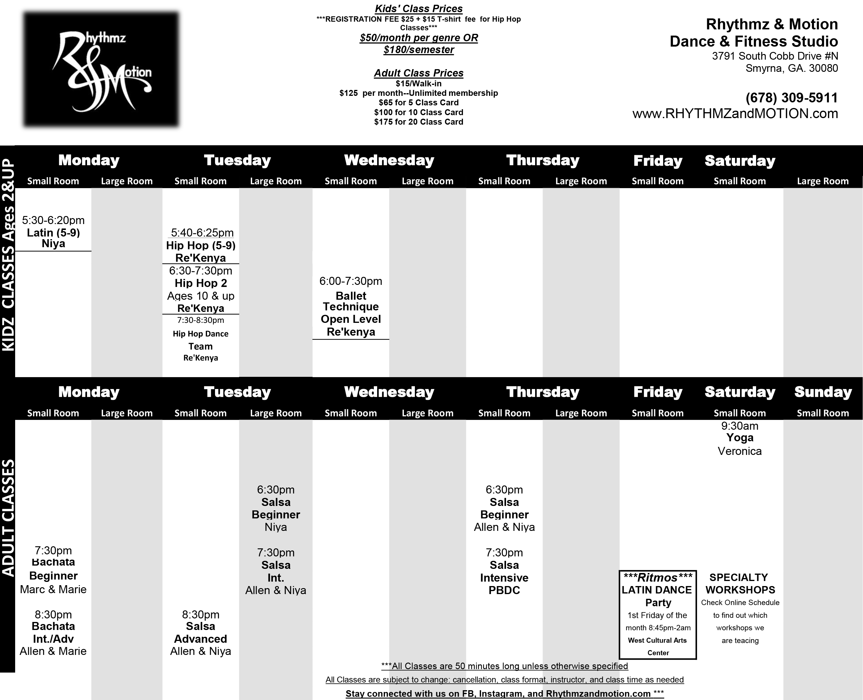 R&M Studio Schedule 2017 BLACK & WHITE (1)